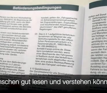 Verkehrsgesellschaft Südharz informiert alle Fahrgäste auch in leichter Sprache