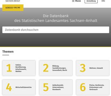 Zahlen-Daten-Fakten: Statistisches Landesamt schaltet Datenbank GENESIS-Online frei
