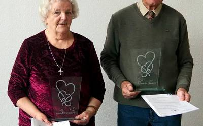 Wanda Böhme und Winfried Viezens. ©Landkreis Mansfeld-Südharz/U. Gajowski
