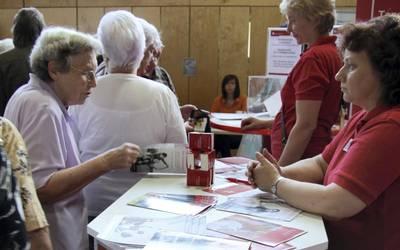 Auch auf dem Seniorenforum, wie hier 2012 in Sangerhausen, erhalten Seniorinnen und Senioren Informationen zum Leben ohne Barrieren. Foto: Landkreis Mansfeld-Südharz