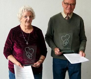 Wanda Böhme und Winfried Viezens geehrt