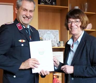 Steffen Hohmann erneut zum Kreisbrandmeister berufen