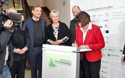 Schulterschluss für den Strukturwandel in Mitteldeutschland